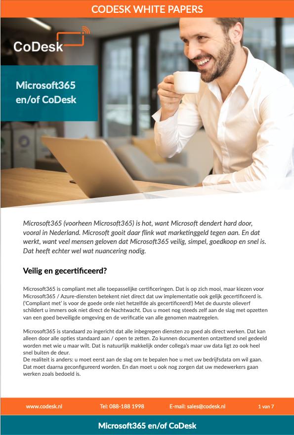 Hoe CoDesk Microsoft365 kant-en-klaar aanbiedt zonder verrassingen