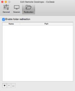 Enable folder redirection