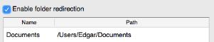 Folder redirection klaar