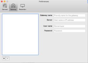 Nieuwe gateway scherm